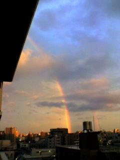■やっぱり虹が。
